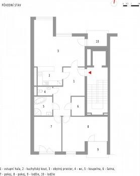 Byt nad řekou - dispoziční řešení a návrh interiéru