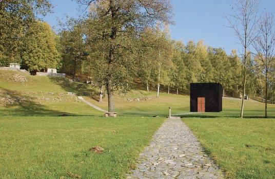 Návrh kaple pro nacisty vypálenou obec Ležáky