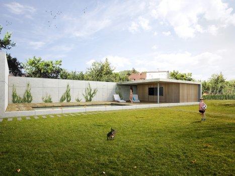 Stavba zahradního pavilonu
